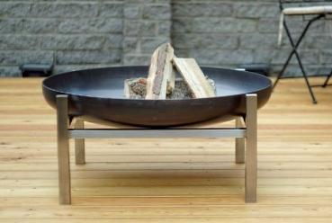 alpenline design feuerschale cube gr e super xxl 79 cm. Black Bedroom Furniture Sets. Home Design Ideas
