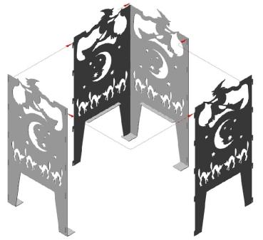 alpenline feuerkorb elch in verschiedenen gr en. Black Bedroom Furniture Sets. Home Design Ideas