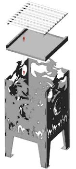 alpenline feuerkorb hexe in verschiedenen gr en. Black Bedroom Furniture Sets. Home Design Ideas