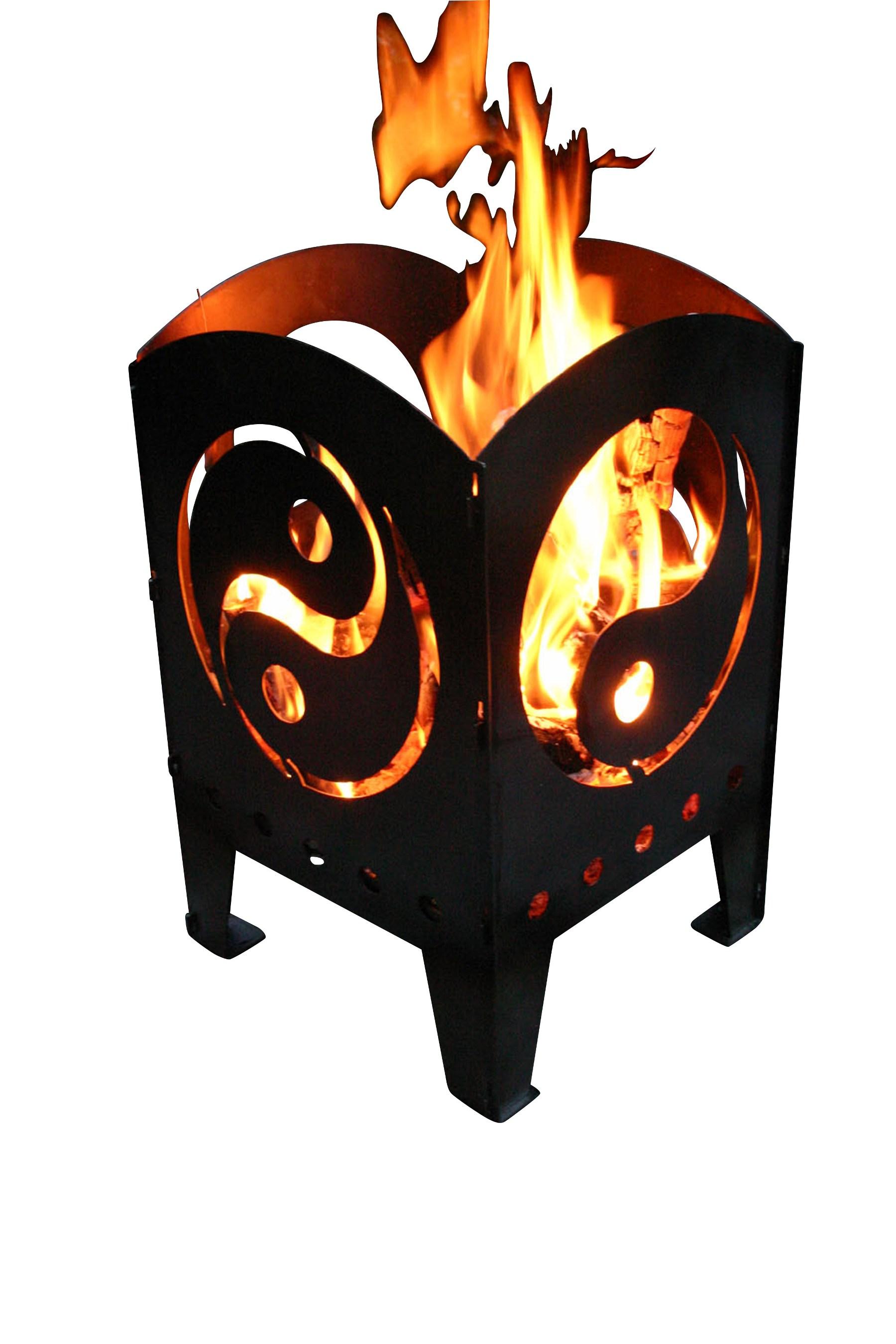 alpenline feuerkorb yin yan in verschiedenen gr en. Black Bedroom Furniture Sets. Home Design Ideas