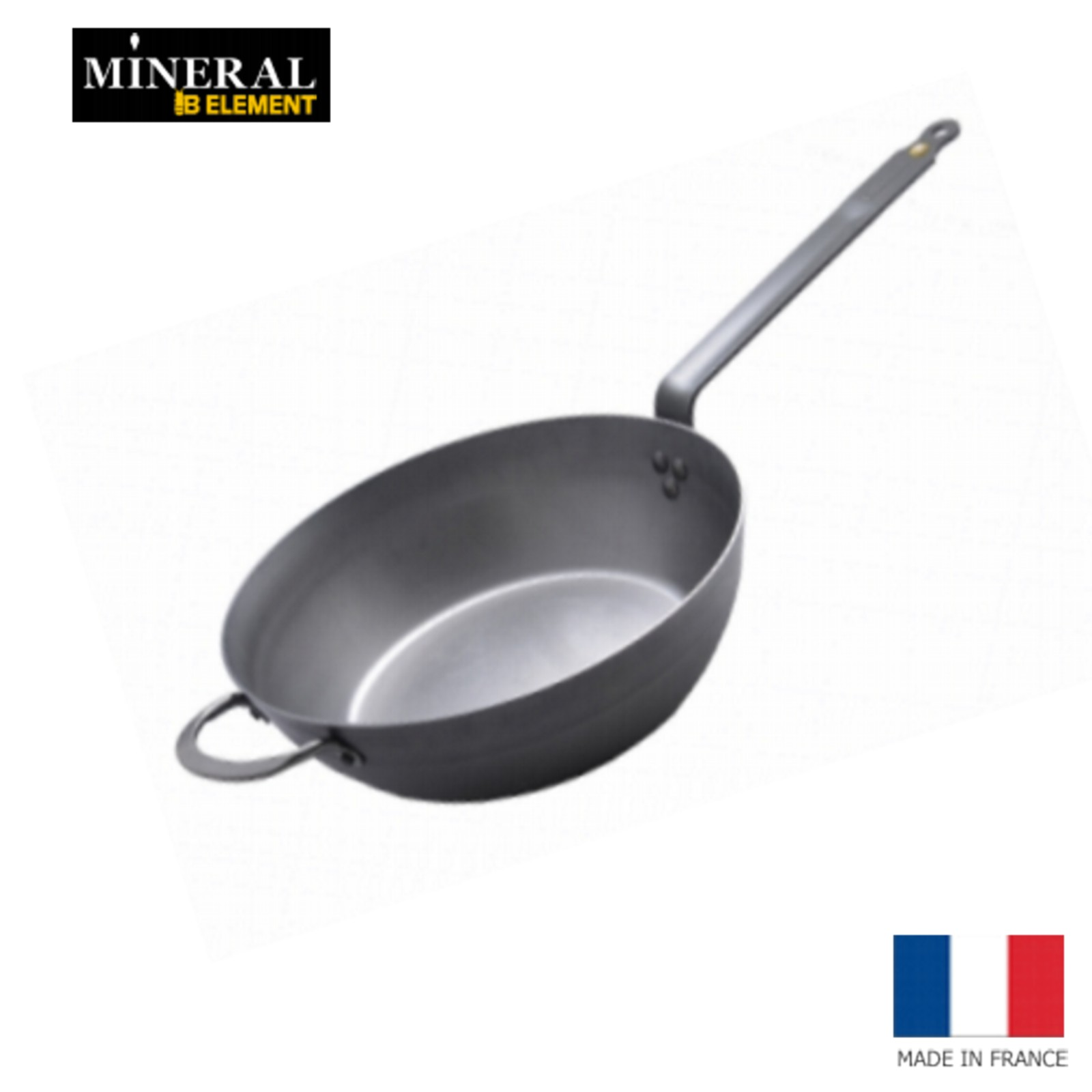 Mineral B Element de Buyer runde Eisenpfanne 26 cm